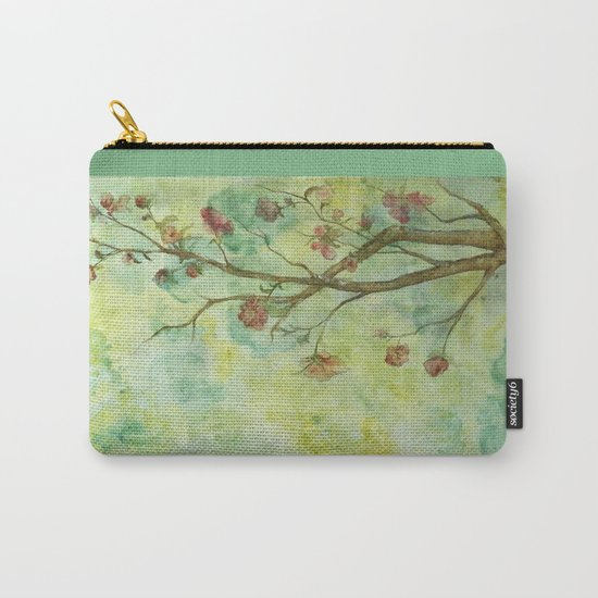Branch with flowers Carry-All Pouch