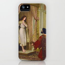 "Edmund Blair Leighton ""The King and the Beggar-maid"" iPhone Case"