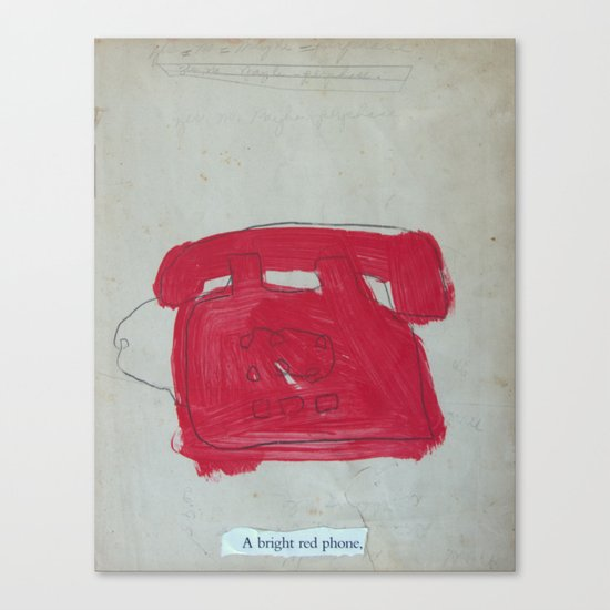 A Bright Red Phone Canvas Print
