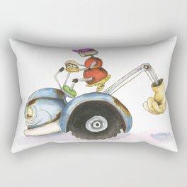Farmer Robot  Rectangular Pillow