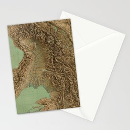 Vintage Map of Northern Italy (1899) Stationery Cards