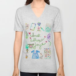 Small Shop Joy Unisex V-Neck