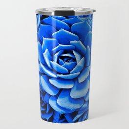 Blue Succulent Travel Mug