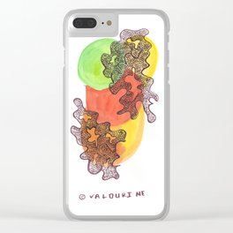 1 // Abstract 9 March 2017    Colorful Watercolor Paintings Clear iPhone Case