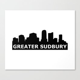 Greater Sudbury Skyline Canvas Print