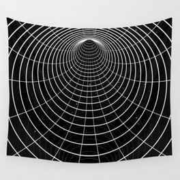 Black-white wormhole Wall Tapestry