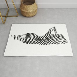 Fingerprint Silhouette Portrait No.2 Rug