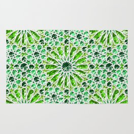 Geometric gemstones (emerald) Rug