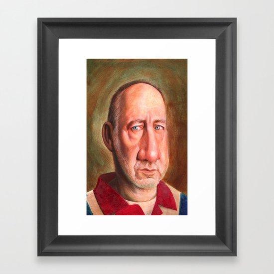Naked Eye- Pete Townsend Framed Art Print