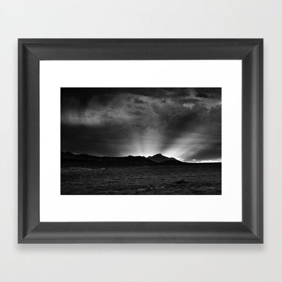 Sunlight Over the Colorado Rockies Framed Art Print