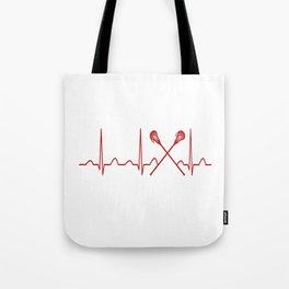 LACROSSE HEARTBEAT Tote Bag