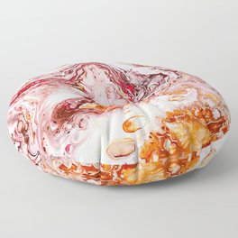 Red Marble Swirl Pattern Floor Pillow