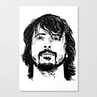 dave grohl Canvas Prints featuring Dave Grohl - Legend by Matty723