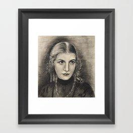 youth - many years ago Framed Art Print