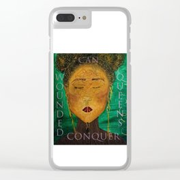 Wounded Queens Conquer Clear iPhone Case