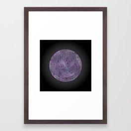 Undiscovered Planet: Purple Framed Art Print