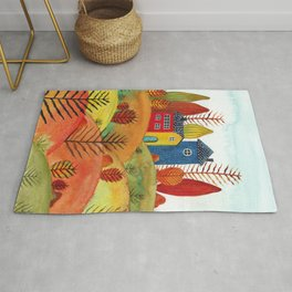 Colorful forest III Rug