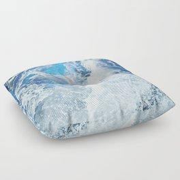 Perfect Sea Waves II Floor Pillow
