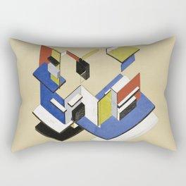 Theo van Doesburg - Contra-Construction Project (Axonometric) - Abstract De Stijl Painting Rectangular Pillow