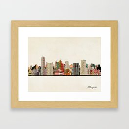 memphis skyline Framed Art Print