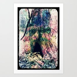 Gnome Hole Art Print