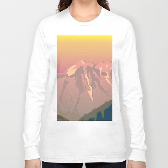 Night Mountains No. 47 Long Sleeve T-shirt