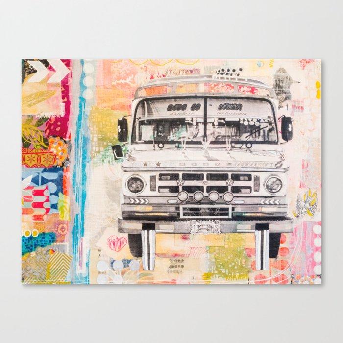 Bolivian Bus Canvas Print