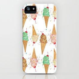 I Scream Pattern iPhone Case