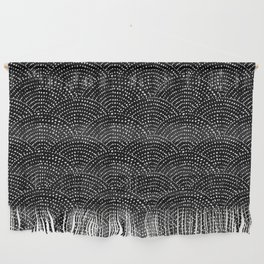 Ink dot scales - black Wall Hanging