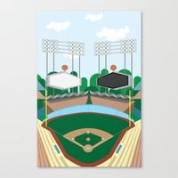 dodgers Canvas Prints featuring Dodger Stadium by Eric J. Lugo