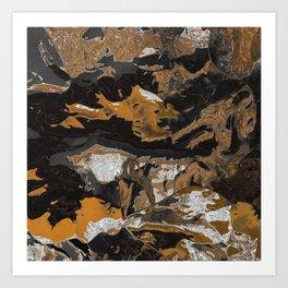 Earthtone stew Art Print