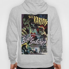 The Body Snacher 1945 Vintage Movie Poster Artwork for Wall Art, Posters, Prints, Tshirts, Men, Wome Hoody
