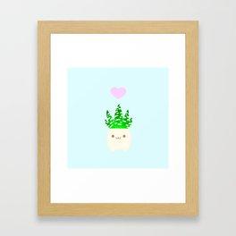LOVE haworthia Framed Art Print