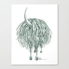 Horny Beast Canvas Print