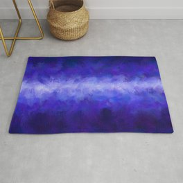 Blue Energy Abstract Rug