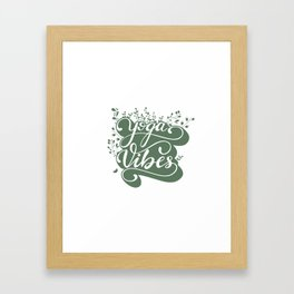 Yoga Vibes lettering design Framed Art Print