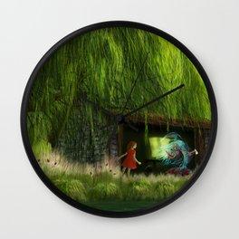 Der Fisch im Fischschuppen Wall Clock