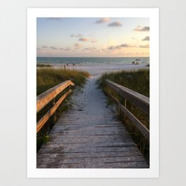 Beach Boardwalk Art Print