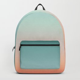 Color gradient background - fading sunset sky colors Backpack