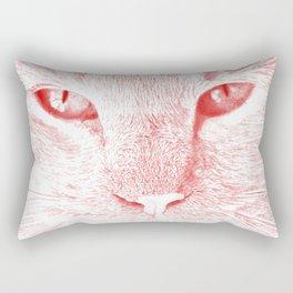 sandy, close up, drawing red Rectangular Pillow