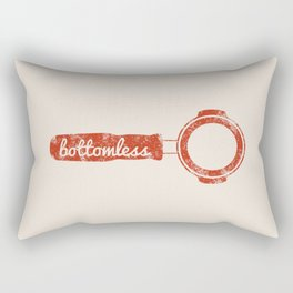 Bottomless Portafilter // Barista Espresso Machine Coffee Shop Humor Graphic Design Rectangular Pillow
