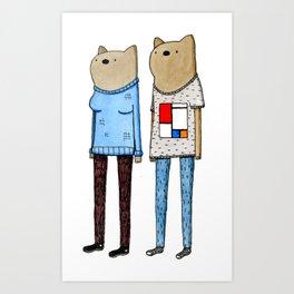 Hipster Wombats Art Print