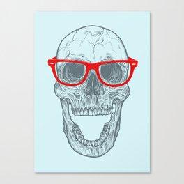 Smart-Happy Skully Canvas Print
