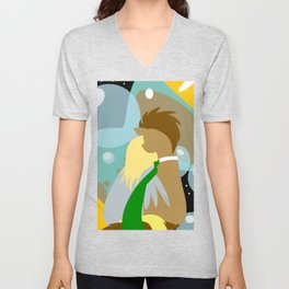 Time Bubbles Unisex V-Neck