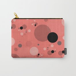 Coral Dots Carry-All Pouch