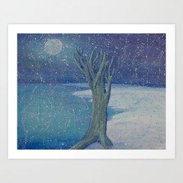 Night Snow Art Print