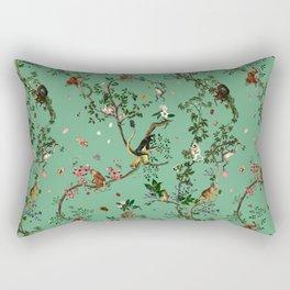 Monkey World Green Rectangular Pillow