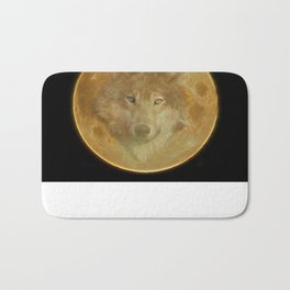 Wolf Moon Bath Mat