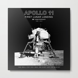 Apollo 11-50th Anniversary,Logo,Lunar Landing,Moon.Space 2 Metal Print