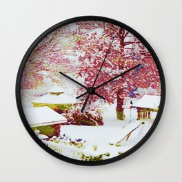 SNOW DAY - 015 Wall Clock